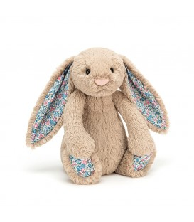 Jellycat Blossom Beige Bunny with Blue Ears Medium