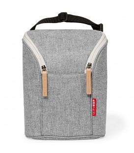 Skip Hop Grab and Go Double Bottle Bag - Grey Melange