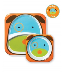 Skip Hop Zoo Melamine Plate & Bowl Set - Dog