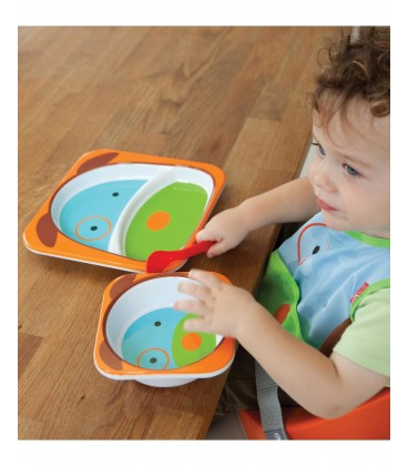 Skip Hop Zoo Melamine Plate & Bowl Set - Dog