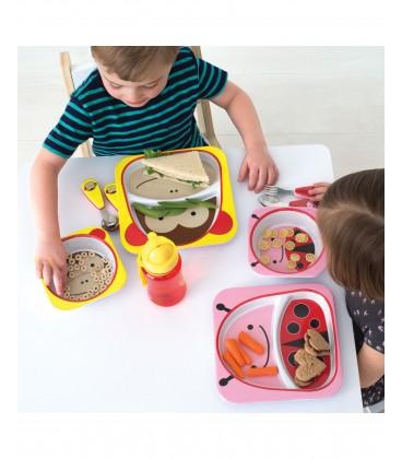 Skip Hop Zoo Melamine Plate & Bowl Set -Monkey