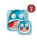 Skip Hop Zoo Melamine Plate & Bowl Set - Owl