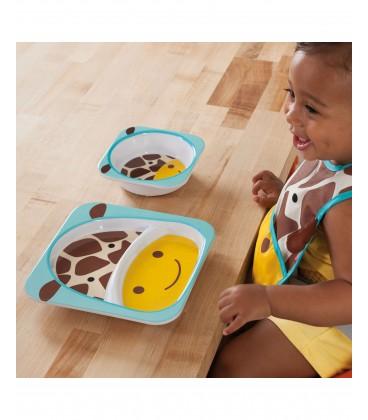 Skip Hop Zoo Melamine Plate & Bowl Set - Bee