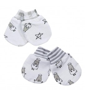 Baa Baa Sheepz Mittens (2 pairs) - Small Sheepz + Small Star & Sheepz