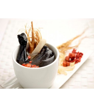 Double Boiled Herbal Black Chicken Soup