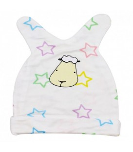 Baa Baa Sheepz Bamboo Cloth Baby Cap ( Colourful stars)