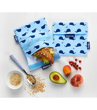 "Roll and Eat ""Snack N Go"" Pouch - Whale"