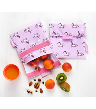 """Roll and Eat """"Snack N Go"""" Pouch - Unicorn"""