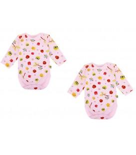 Babies Culture Long Sleeve  Pink Bodysuit(0-3m) ( Buy 1 Get 1 Free)