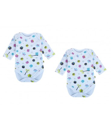 Babies Culture Long Sleeve Blue Bodysuit(0-3m)(Buy 1 get 1 free)