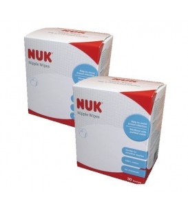 NUK Nipple Wipes Twin Pack
