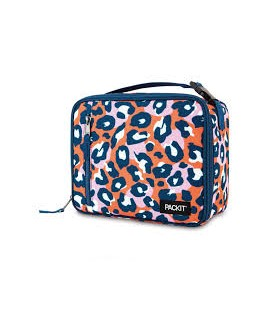Packit Classic Lunch Box Bag - Wild Leopard Orange