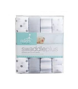 Aden & Anais Swaddles 4 Pack - Dove