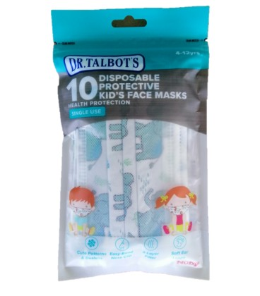 Dr Talbots Kids Face Mask By Nuby 10pcs - Elephant