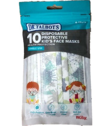 Dr Talbots Kids Face Mask By Nuby 10pcs - Splatters
