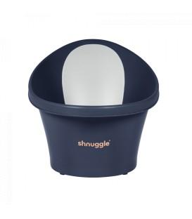 Shnuggle Baby Bath With Plug & Foam Backrest - Navy