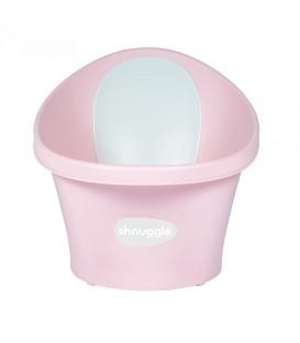 Shnuggle Baby Bath With Plug & Foam Backrest - Rose