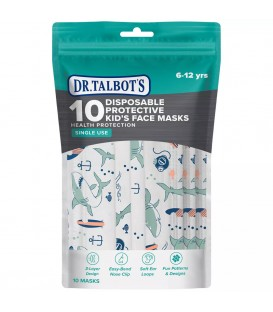 Dr Talbots Kids Face Mask By Nuby(10 pcs) - Shark