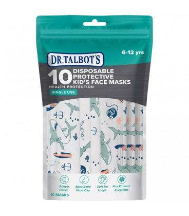 Dr Talbots Kids Face Mask By Nuby(10 pcs) - Shark