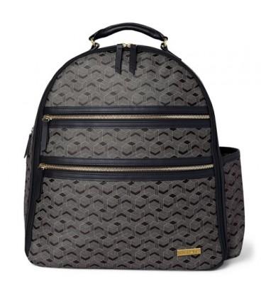 Skip Hop Deco Saffiano Backpack- Interweaved Lines