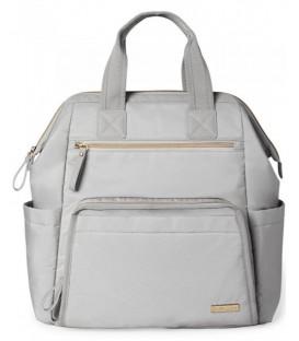 Skip Hop Main Frame Wide Open Backpack- Cement Grey
