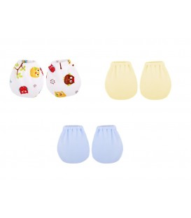 Babies Culture 3 Pairs Baby Mittens ( 0-3m)  (Boy)