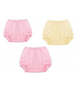 Babies Culture 3pcs Diaper Short Pants (Girl)