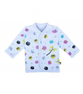 Babies Culture Long Sleeve Blue Top(3-6m)(Buy 1 get 1 Free)