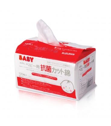 Suzuran Baby Antibacterial Cotton 120 pcs