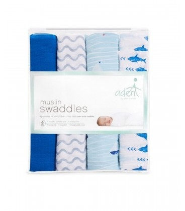 Aden & Anais Swaddles 4 Pack - Sky High