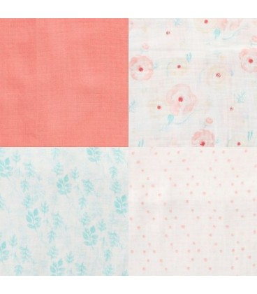 Aden & Anais Swaddles 4 Pack- Pretty Pink