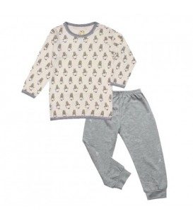 Baa Baa Sheepz- Pyjamas Set White Small Sheepz + Grey Colour