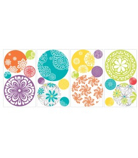 Room Mates Patterned Dots Wall Decals
