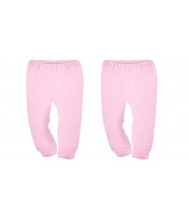 Babies Culture Pink Long Pants Open Feet (6-12M)( Buy 1 Get 1 Free)