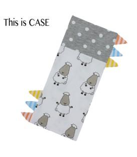 Baa Baa Sheepz Bedtime Buddy  Jumbo Pillow Case - Polka Dot