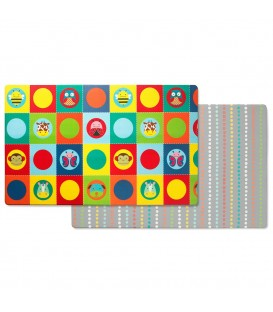 Skip Hop Doubleplay Reversible Playmat - Zoo and Multi Dots