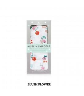 Little Palmerhaus Muslin Swaddle 1pcs (Blush Flower)
