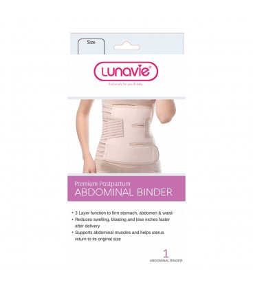 Lunavie Premium Postpartum Abdominal Binder - XXL