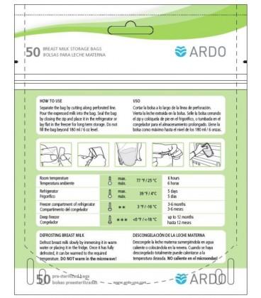Ardo Easy Breast Milk Storage Bags (50 Milk Bags)