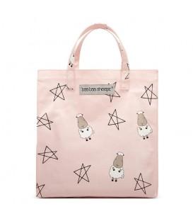 Baa Baa Sheepz Tote Bag Big Star Sheepz Pink