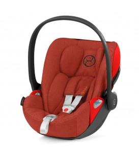 Cybex Cloud Z i-Size Plus Infant Car Seat - Autumn Gold Burnt Red