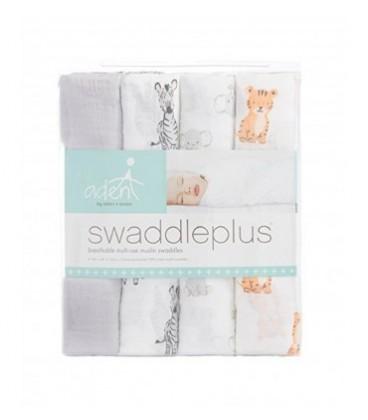 Aden & Anais Swaddles 4 Pack - Safari Babes