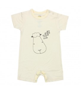 Baa Baa Sheepz - Yellow Sleepyhead Short Sleeves Romper