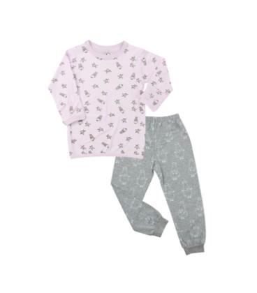Baa Baa Sheepz- Pyjamas Set Pink Small Sheep & Stars + Grey Big Sheepz