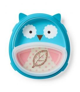 Skip Hop Zoo Smart Serve Plate & Bowl - Owl