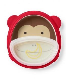 Skip Hop Zoo Smart Serve Plate & Bowl - Monkey