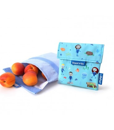 """Roll And Eat """"Snack N Go"""" Pouch - Ocean"""